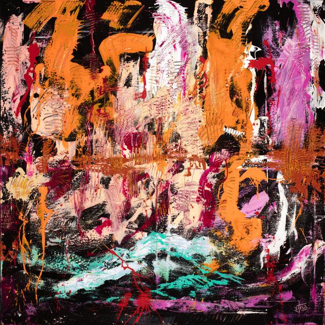 Vikash Jha, 'Introspection #1', 2018, Painting, Acrylic, oil, marble dust and mixed media, MvVO ART