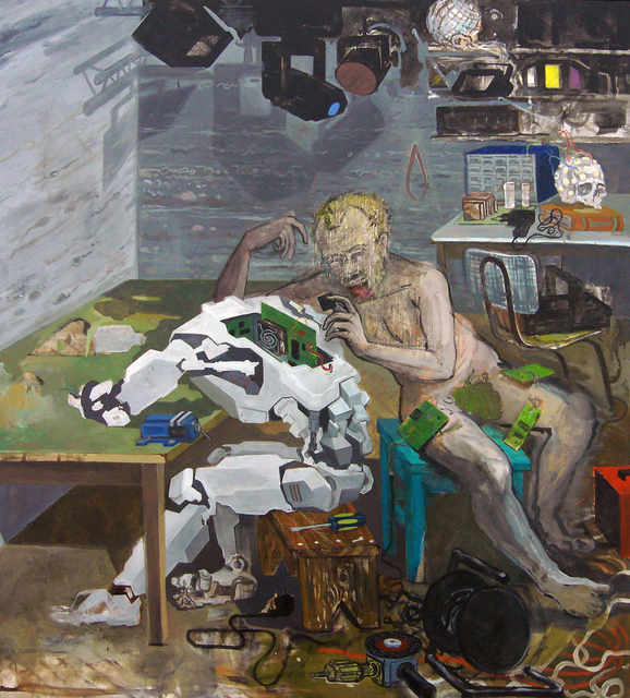 Mihut Boscu Kafchin, 'The Alchemy Of The Alter-Body', 2013, Painting, Art Encounters Foundation