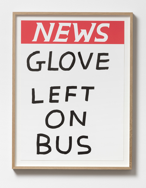 , 'Untitled (Glove left on bus),' 2017, Galleri Nicolai Wallner