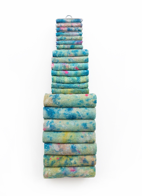 , 'Untitled Textile Arrangement (TOWEL RACK XL #2),' 2015, Spinello Projects