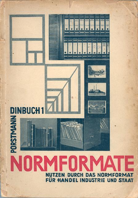 """, 'Poster """"NORMFORMATE DINBUCH 1"""",' 1922, MAKK – Museum für Angewandte Kunst Köln"""
