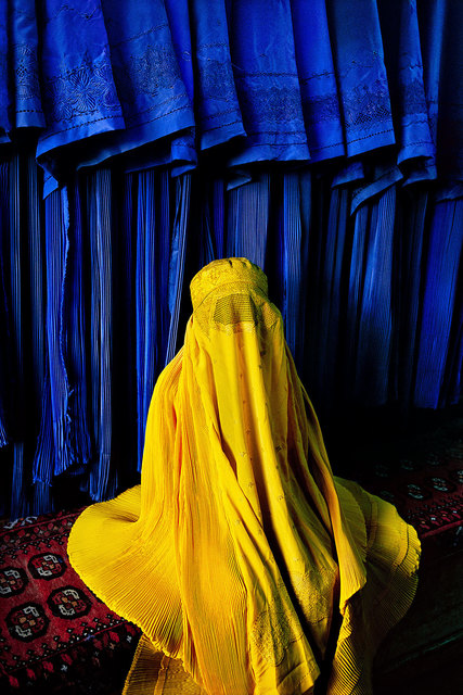 , 'Woman in Canary Burqa, Kabul, Afghanistan,' 2002, Cavalier Galleries