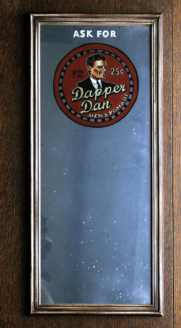 , '1930s 'Dapper Dan' Advertising Mirror,' 2018, Spoke Art