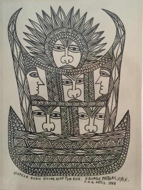 , 'Dispels. Kenu Bilong. Kiapten Kuk.,' 1998, Rebecca Hossack Art Gallery
