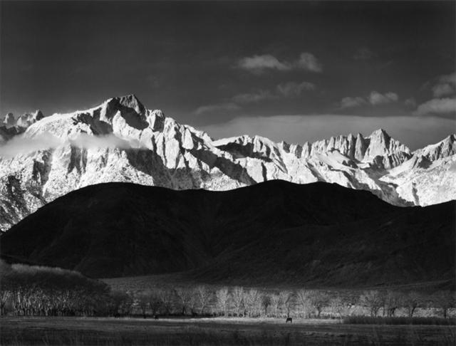 Ansel Adams, 'Winter Sunrise, Sierra Nevada from Lone Pine California, 1944', 1944, Photography West Gallery