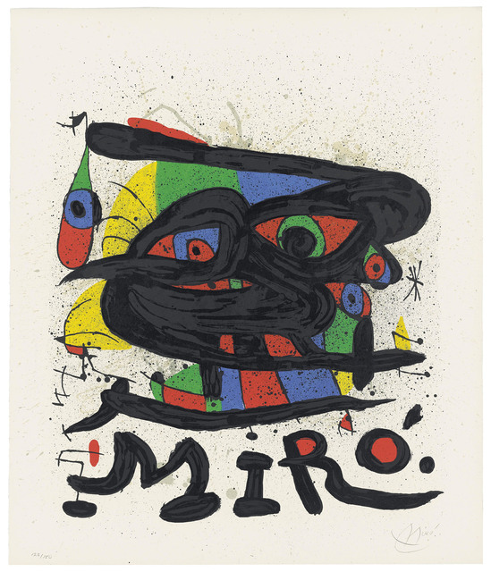 Joan Miró, 'Two plates, from: Cartones', 1965, Christie's