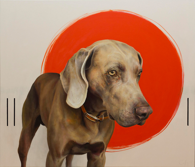 , 'Hound with Three Sticks,' 2017, Winchester Galleries