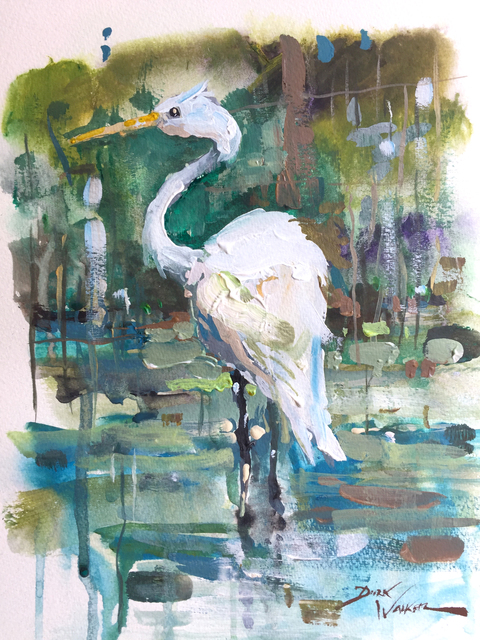 , 'White Egret in Clear Creek,' , Beverly McNeil Gallery