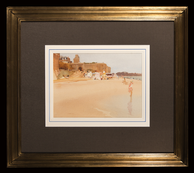 William Russell Flint, 'Golden Sands, St Malo', Trinity House Paintings