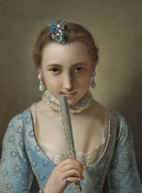 , 'Girl with a Fan,' Mid 18th Century, Daxer & Marschall