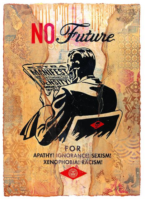 Shepard Fairey (OBEY), 'No Future (Cream)', 2017, Underdogs Gallery