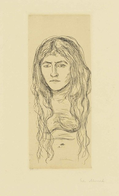 Edvard Munch, 'Woman with long Hair', 1896, Christie's