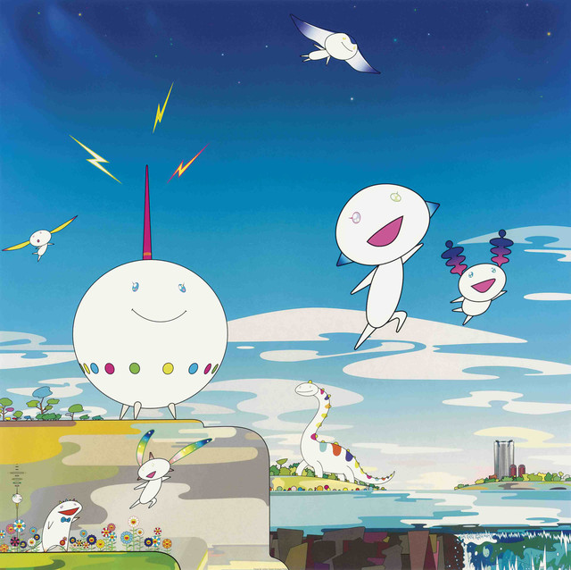 Takashi Murakami, 'The road to Illumination stretches too far ahead. How can I fend off the crashing waves of earthly desires? I am therein a mournful beast. The husk of humanity, too cruel.', 2008, Lougher Contemporary