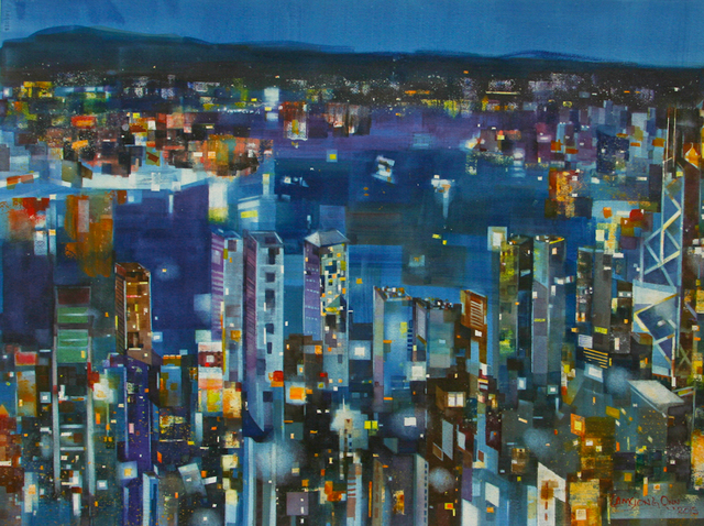 , '#21 Victoria Harbour At Night,' 2015, Affinity ART