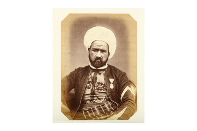 Frontal Ethnographic Portrait Of Abd Allah Ben Abdi, Marshal Of The Logis Des Spahis