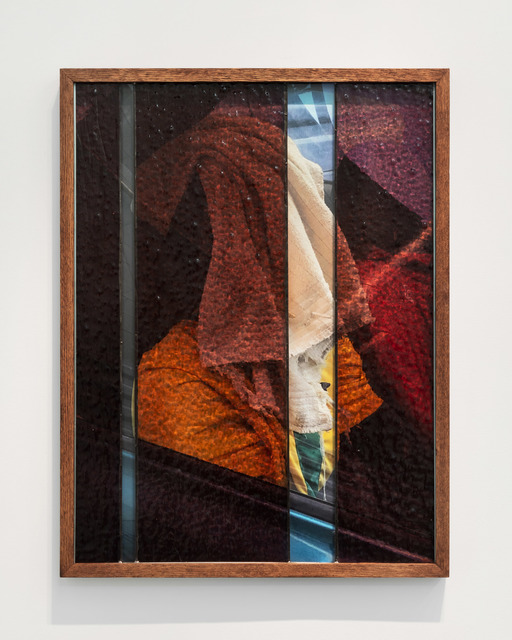 Nadia Belerique, 'Double Slit', 2019, Photography, Inkjet photograph mounted to dibond, stained glass, lead, artist's frame, Daniel Faria Gallery