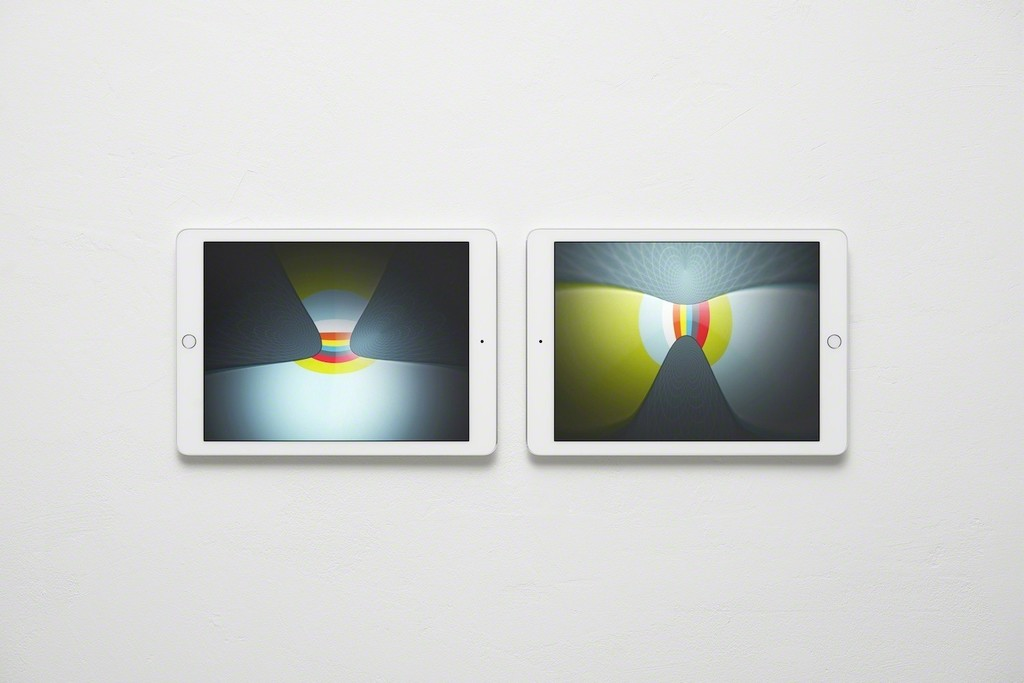 Abstract Nostalgia, Images Shown on Two Apple iPad Air 2s
