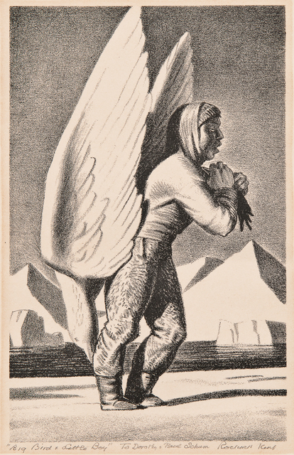Rockwell Kent, 'Small Boy and Big Bird', 1962, Skinner