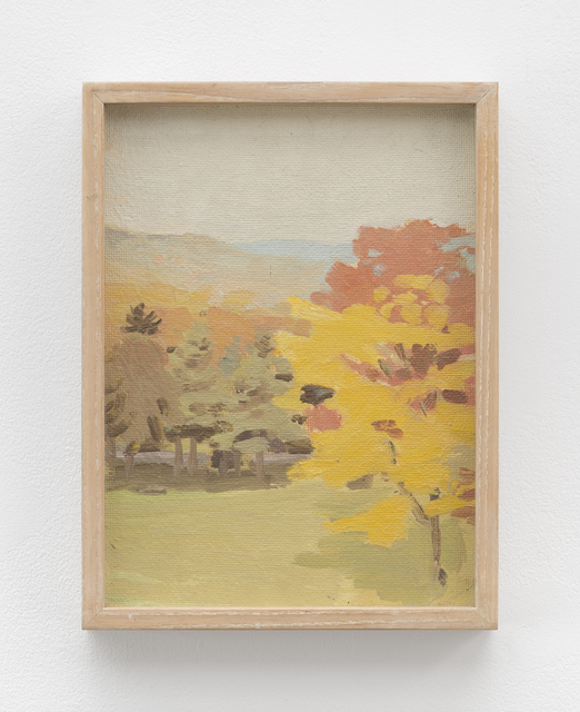 Fairfield Porter, 'Untitled [view of Pelham hills with tree with Fayerweather Hall (A); still life with bottles (B)]', 1969, Betty Cuningham