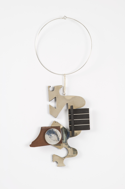 , 'Untitled (Gold, Silver and Wood sculptural necklace),' ca. 1980's, Thomas French Fine Art