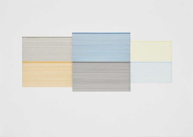 Michael Craig-Martin, 'Untitled (Coloured Venetian Blind Study 6)', 1990, Cristea Roberts Gallery