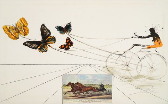 Salvador Dalí, 'American Trotting Horses No 1 from the Currier & Ives suite [M&L 1345]', 1971, Print, Lithograph printed in colours, Roseberys
