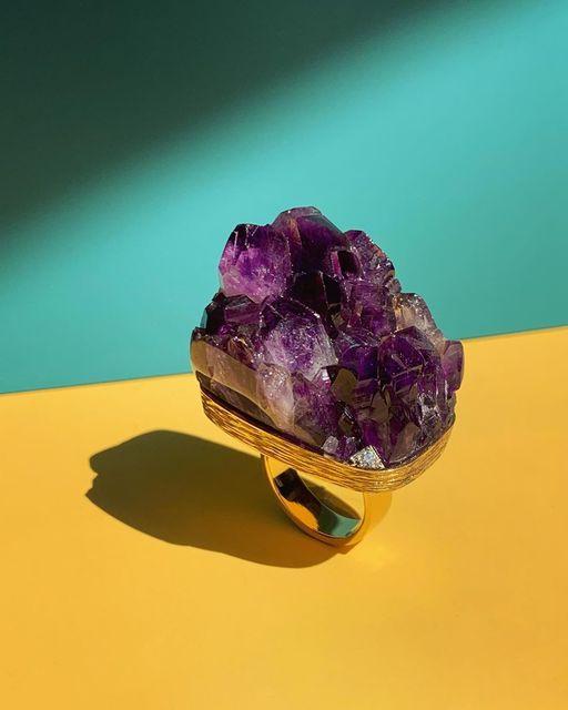 , 'Amethyst Crystal Ring,' 2019, Grima