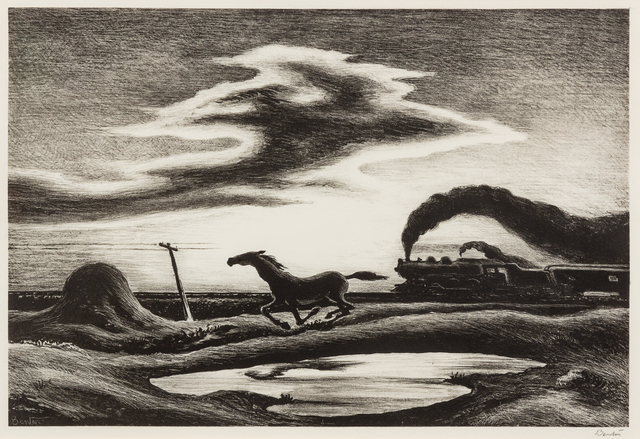 Thomas Hart Benton, 'The Race', 1942, Hindman