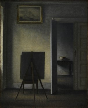 , 'Interior with the Artist's Easel,' 1910, Statens Museum for Kunst