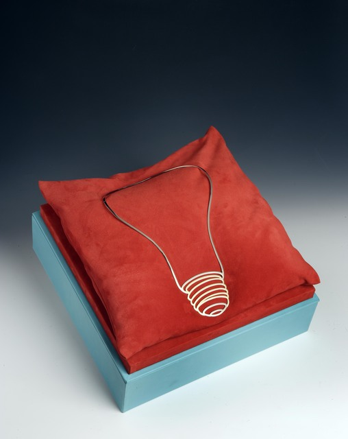 Michael Craig-Martin, 'Light Bulb Necklace', 2007, Jewelry, 18k yellow & white gold, Louisa Guinness Gallery