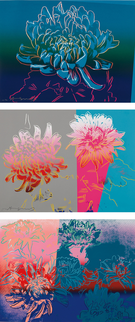 Andy Warhol, 'Kiku', 1983, Print, The complete set of three screenprints in colors, on Rives BFK paper, the full sheets, Phillips
