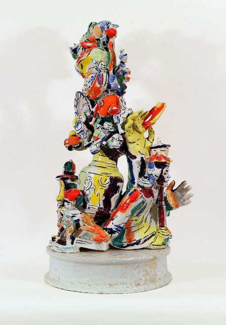 , 'Western Civilization: Urn, Hand with Monkey and Figurines,' 1999, Nancy Hoffman Gallery