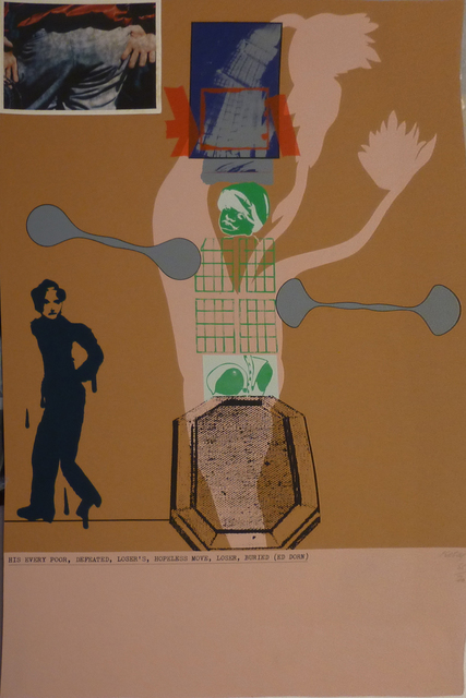 , 'His Every Poor, Defeated, Loser's, Hopeless Move, Loser Buried (Ed Dorn),' 1966, Marlborough Gallery