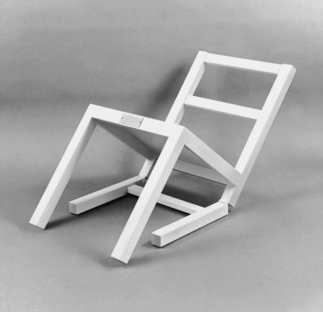 Timm Ulrichs, 'Der erste sitzende Stuhl (nach langem Stehen sich zur Ruhe setzend)', 1970, Painted wood, Wentrup
