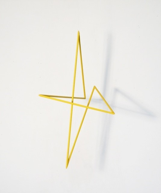 , 'Trait 35 jaune,' 2013, Galerie Marie-Robin