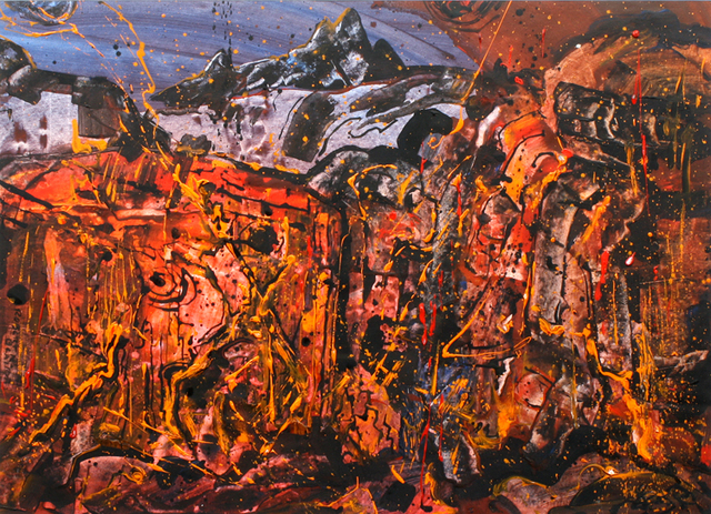 , 'Campfire in the Mountains,' ca. 1960, Benjaman Gallery Group