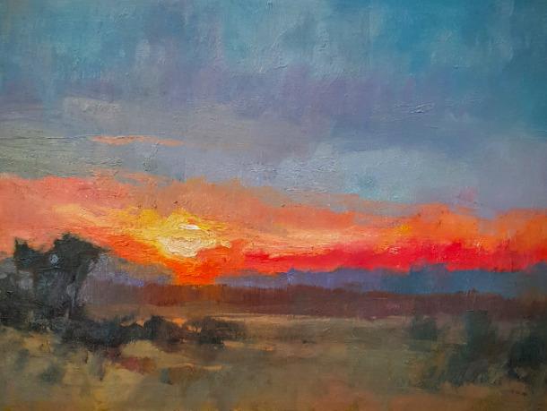 Millie Gosch, 'Red Horizon', 2016, Anne Neilson Fine Art