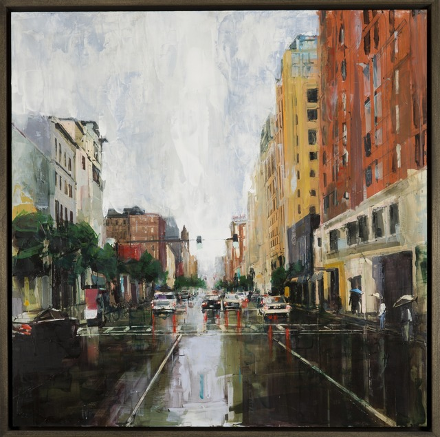 , 'Summer Rain on Boylston,' 2014, Childs Gallery