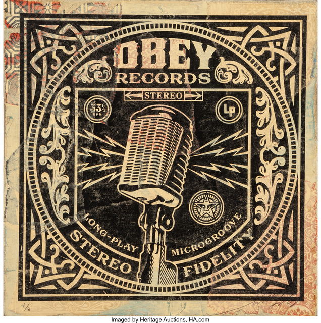 Shepard Fairey (OBEY), 'Long-Play (HPM)', 2011, Heritage Auctions