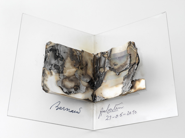 , 'Livre brûlé ,' 2010, SETAREH GALLERY