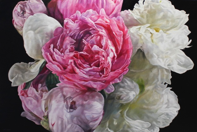 robert lemay, 'Magenta and White Peonies', 2019, The Front Gallery