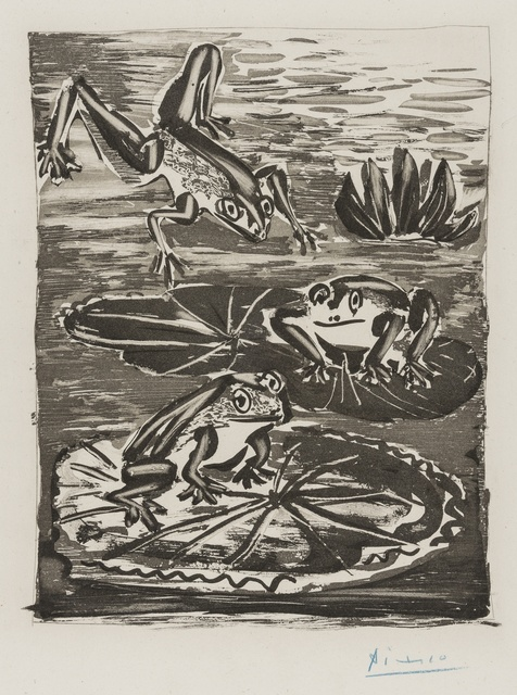 Pablo Picasso, 'Les Grenouilles (Baer 604 II A/C; Bloch 357)', Print, Aquatint with burnisher and drypount on Montval laid Paper watermarked Vollard, Forum Auctions