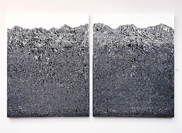 , 'Montagne B (Diptyque),' 2018, Gallery Francoise Livinec