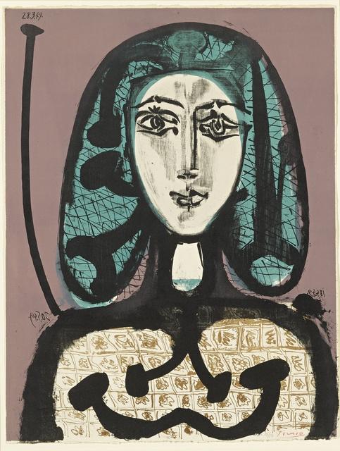 Pablo Picasso, 'La Femme à la résille (Femme aux cheveux verts) (B. 612; M. 178 ter)', 1949, Print, Lithograph printed in colors, Sotheby's