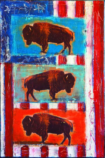 , 'Three Buffalo,' 2018, Xanadu Gallery
