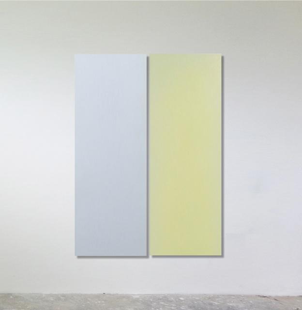 Sonia Costantini, 'Dittico. Celeste madre perla / giallo vetro', 2016, FerrarinArte/Kromya