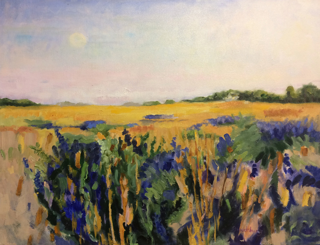 , 'Moonrise, Old North Road,' , The South Street Gallery
