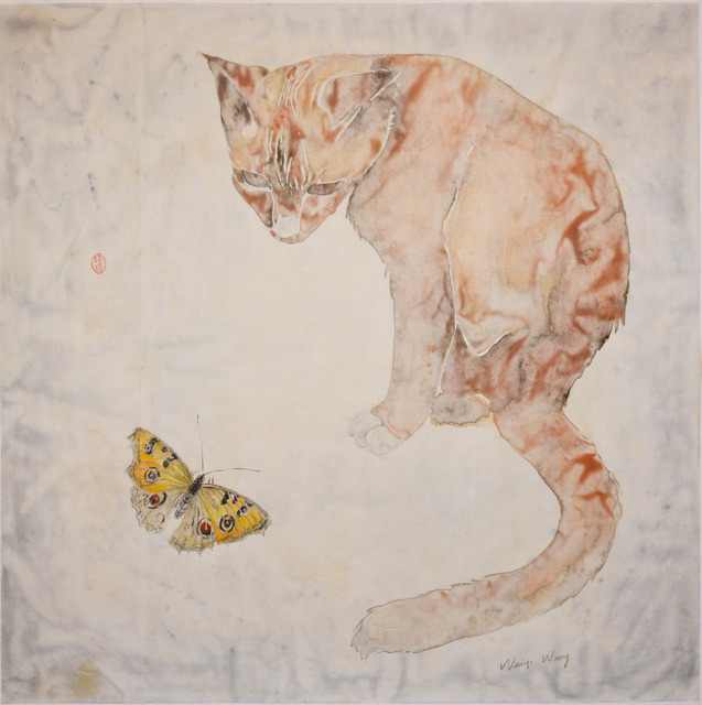 Weiqi Wang, 'Cat and Butterfly', 2014, Ronin Gallery