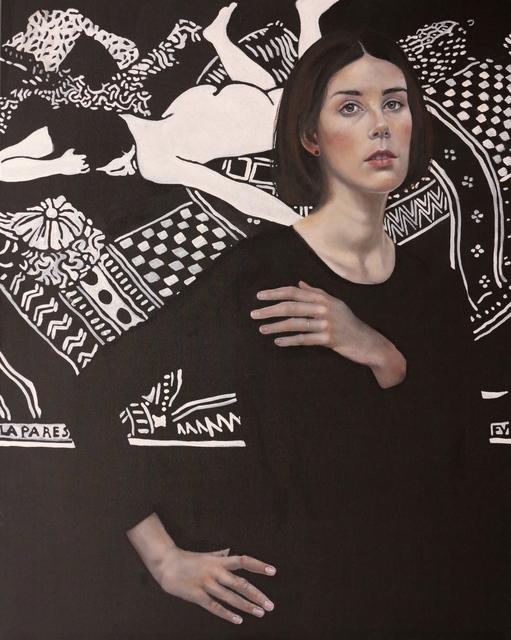 , 'Mit ungemaltem Kleid und Vallotton,' 2015, Joerg Heitsch Gallery