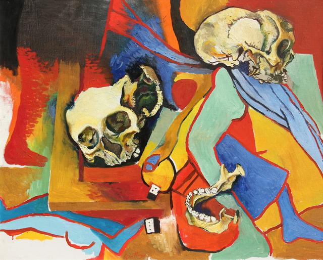 Renato Guttuso, 'Teschio con omaggi a Picasso e alla sua crocifissione', 1973, Ambrosiana Casa d'Aste